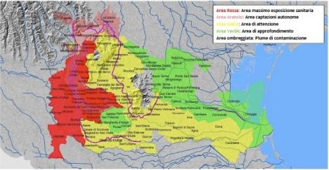 Area Impatto sanitario PFAS Veneto