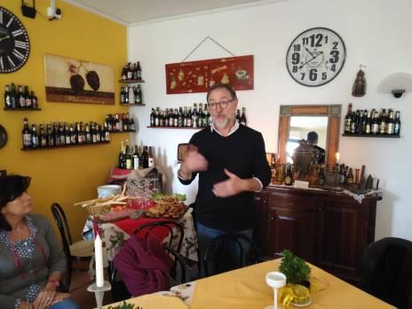 Ottorino Zanellati del Ristorante Cannavie (via per Volano a Codigoro, ci ha ospitato per il direttivo